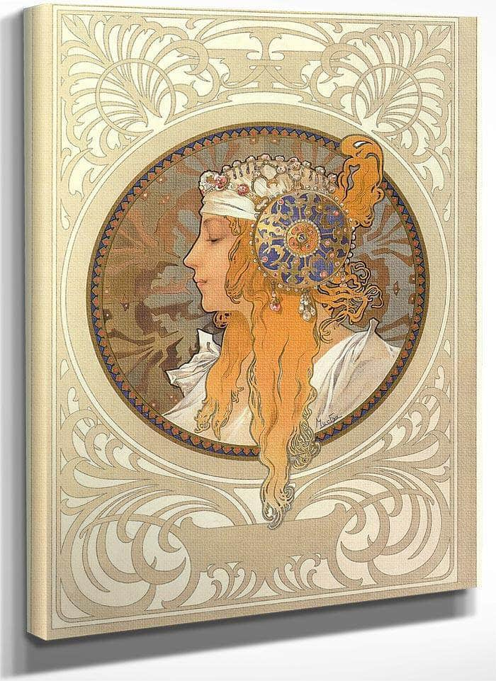 The Byzantine Heads Blonde By Alphonse Mucha