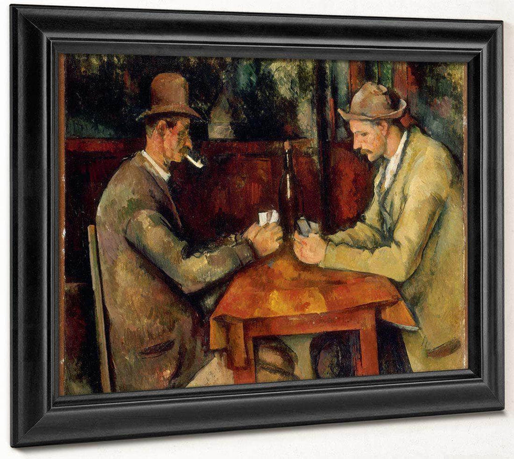 The Card Players 1895 2 By Paul Cezanne