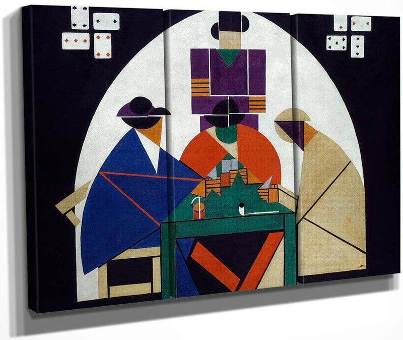 The Cardplayers 1917 By Theo Van Doesburg