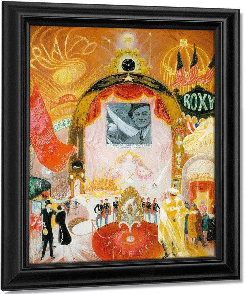 The Cathedrals Of Broadway By Florine Stettheimer