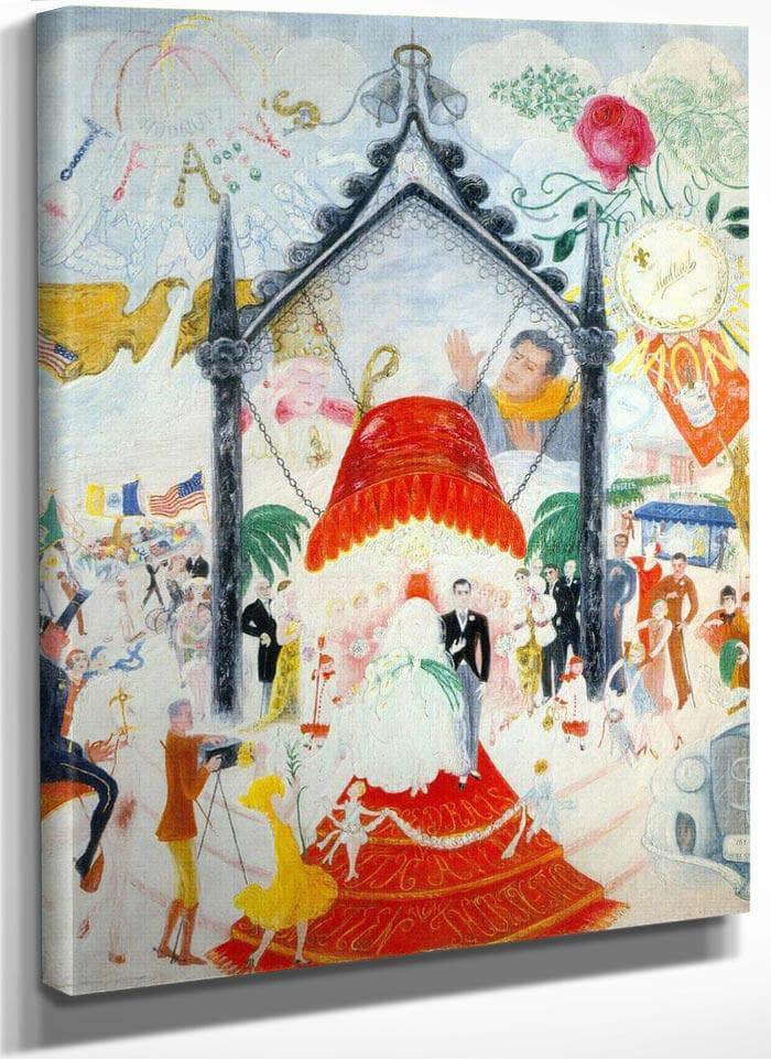 The Cathedrals Of Fifth Avenue By Florine Stettheimer
