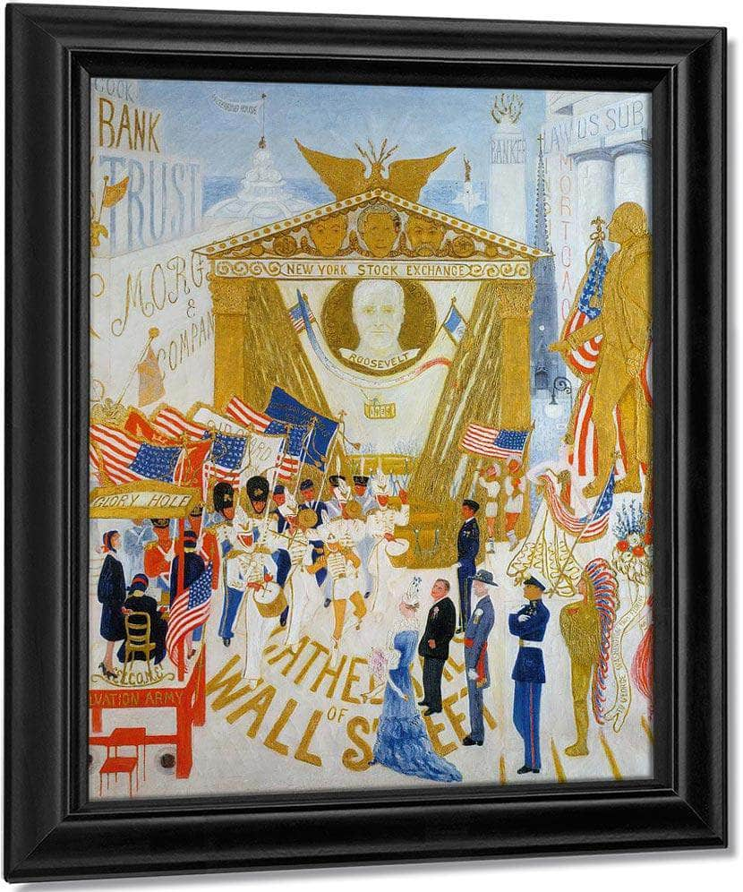 The Cathedrals Of Wall Street By Florine Stettheimer