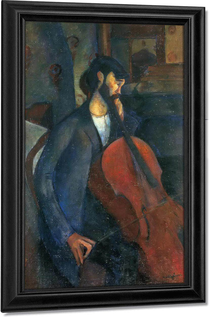 The Cellist 1909 By Amedeo Modigliani