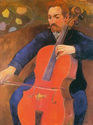 The Cellist ( Portrait Of Upaupa Schneklud) By Paul Gauguin