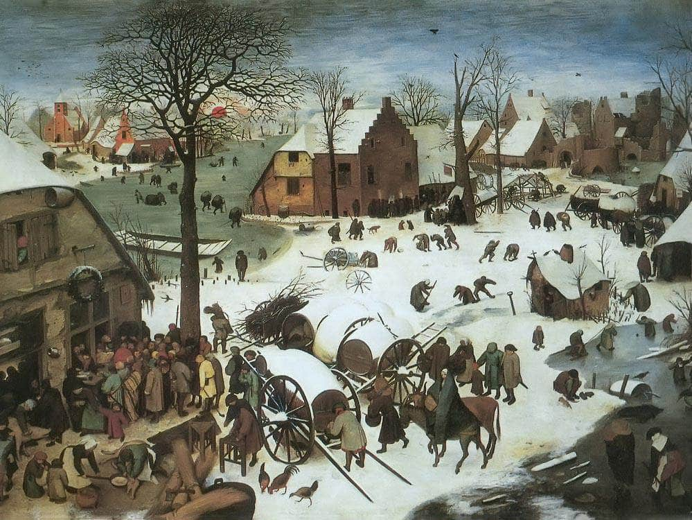 The Census At Bethlehem 1566 By Pieter Bruegel
