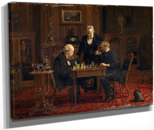 The Chess Players 1876 By Thomas Eakins