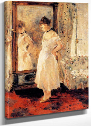 The Cheval Glass 1876 Oil On Canvas 65X54Cm Private Collection By Berthe Morisot