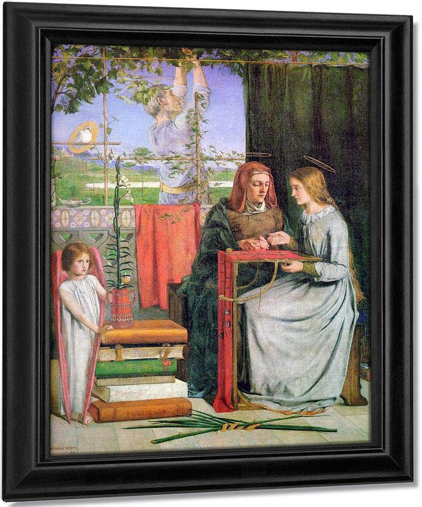 The Childhood Of Mary Virgin 1849 83 2X65 4Cm Tate Britain By Dante Gabriel Rossetti