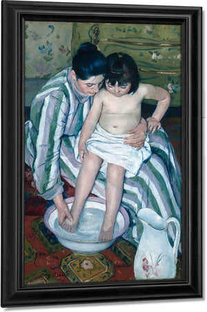 The Childs Bath By Cassatt Mary