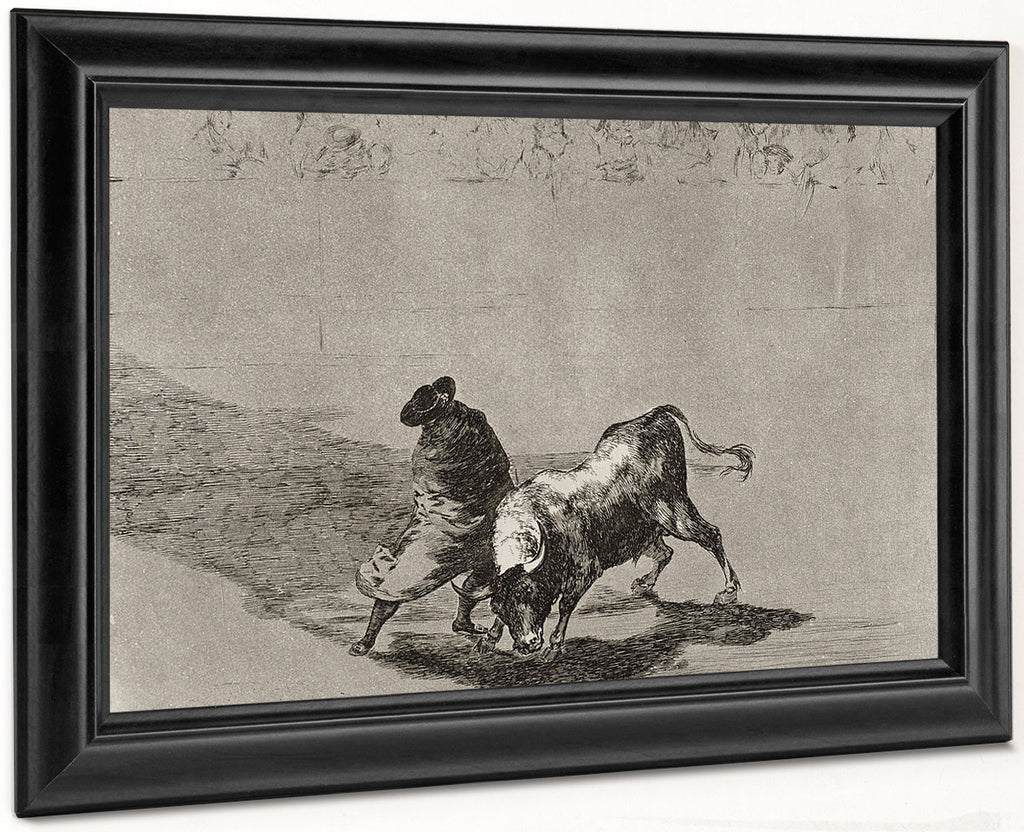 The Clever 'Student Of Falces' Infuriates The Bull By Moving About Wrapped In His Cloak Plate 14 From La Tauromaquia (The Art Of Bullfighting) By Francisco De Goya