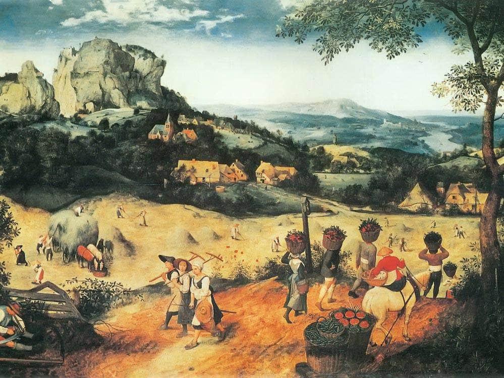 The Corn Harvest 2 1565 By Pieter Bruegel