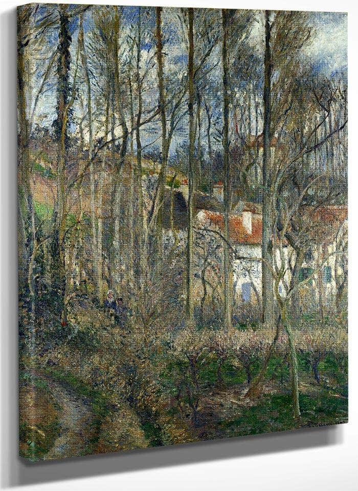 The Cote Des Boeufs At L Hermitage By Camille Pissarro