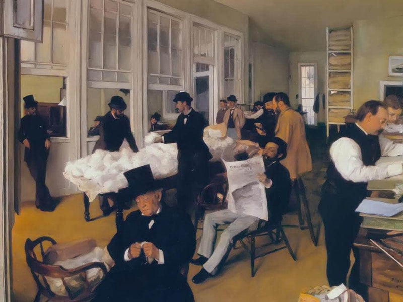 The Cotton Exchange At New Orleans By Edgar Degas