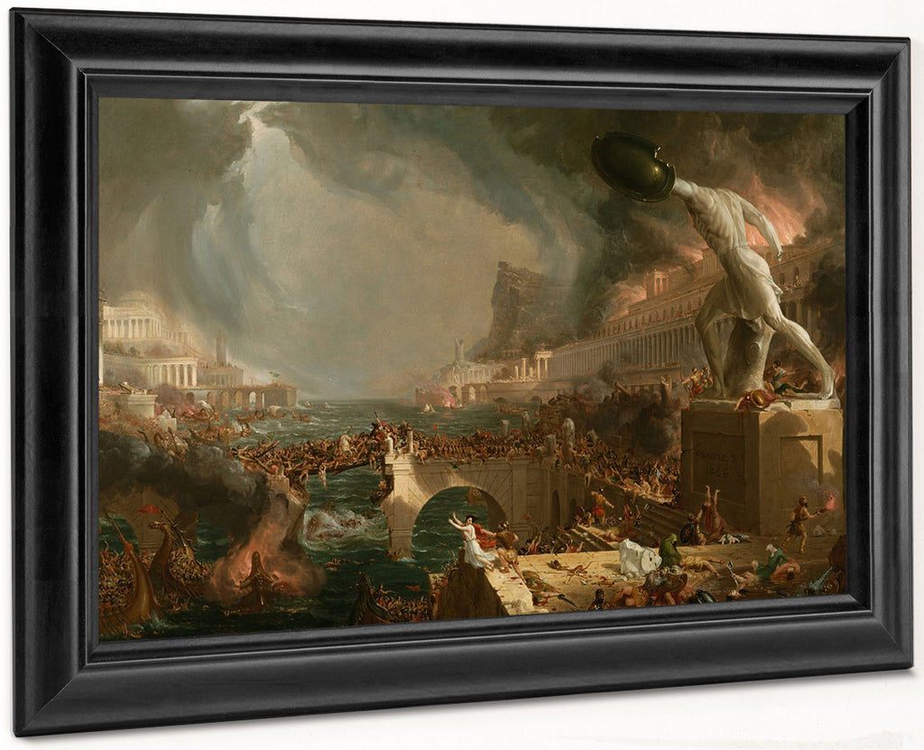The Course Of Empire 4 Destruction 1836 By Thomas Cole