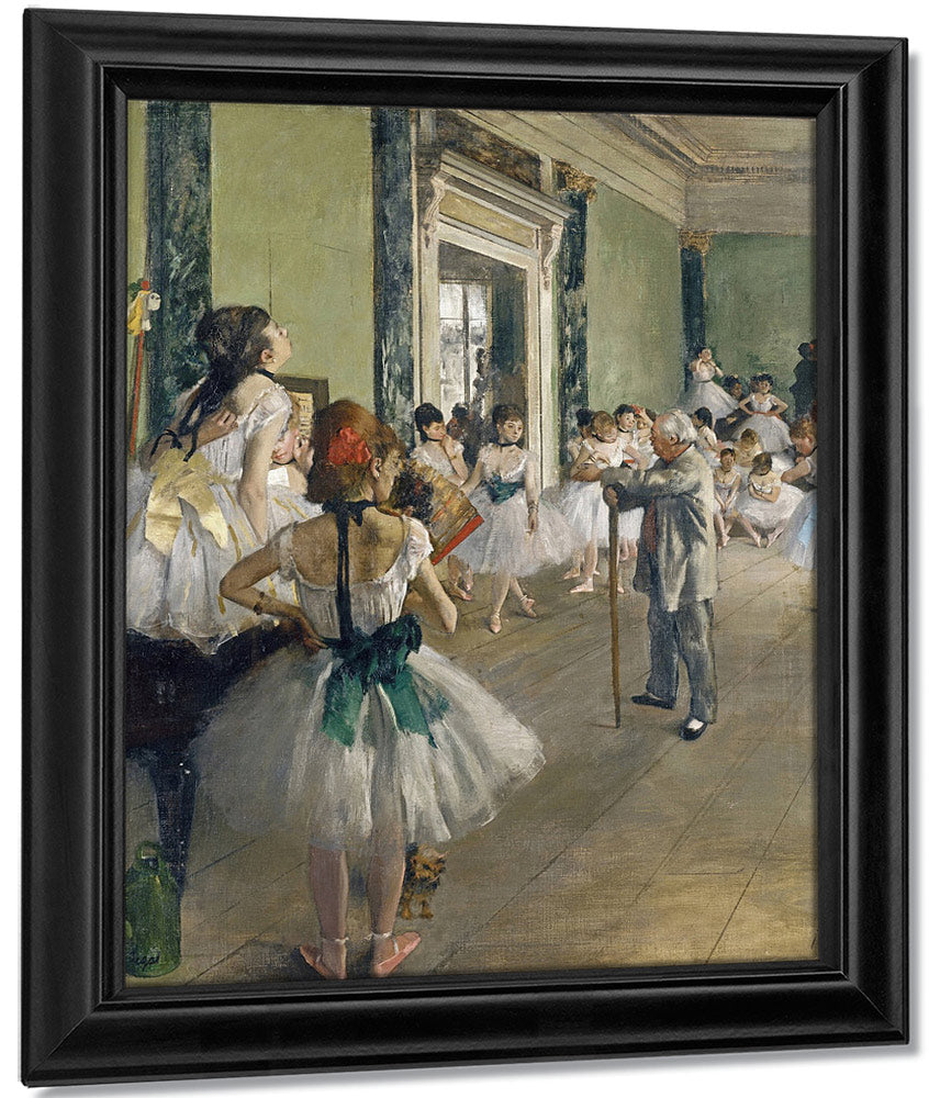 The Dancing Lesson By Edgar Degas