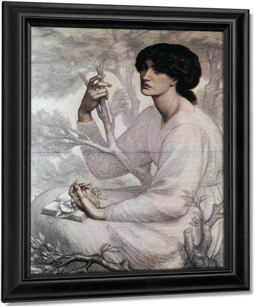 The Day Dream Study 1878 Chalk 104 8X76 8Cm Ashmolean Museum Oxford By Dante Gabriel Rossetti