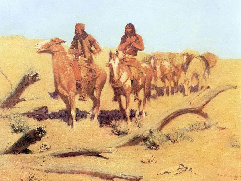The Dead Men Aka The Discovery By Frederic Remington