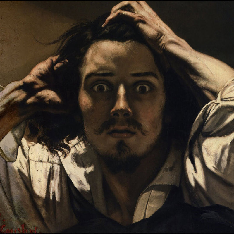 The Desperate Man By Gustave Courbet