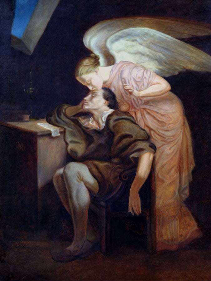 The Dream Of The Poet Or, The Kiss Of The Muse By Paul Cezanne