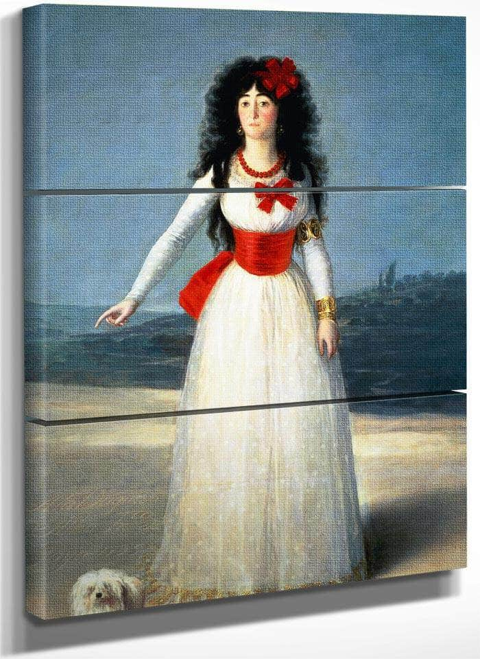 The Duchess Of Alba I By Francisco De Goya