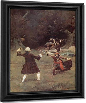 The Duel Between John Blumer And Cazaio By Howard Pyle