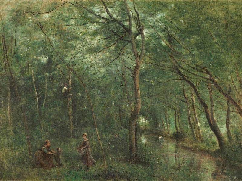 The Eel Gatherers Jean Baptiste By Camille Corot