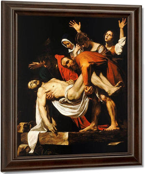 The Entombment Of Christ 1603 By Caravaggio