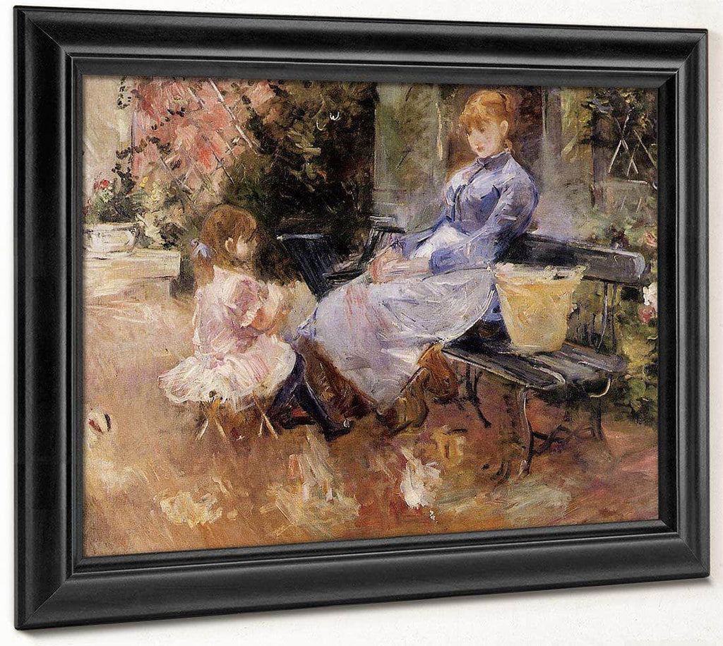 The Fable 1883 Oil On Canvas Private Collection By Berthe Morisot