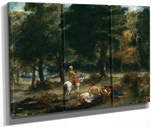 The Farm At The Entrance To The Woods By  Bonheur Rosa By Eugene Delacroix