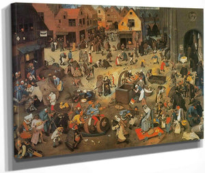 The Fight Between Carnival And Lent 1559 By Pieter Bruegel