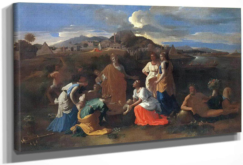 The Finding Of Moses Ii By Nicholas Poussin