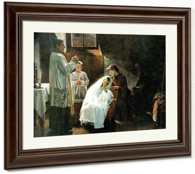The First And Last Communion 1888 By Cristobal Rojas Poleo