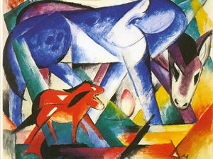 The First Animals By Franz Marc