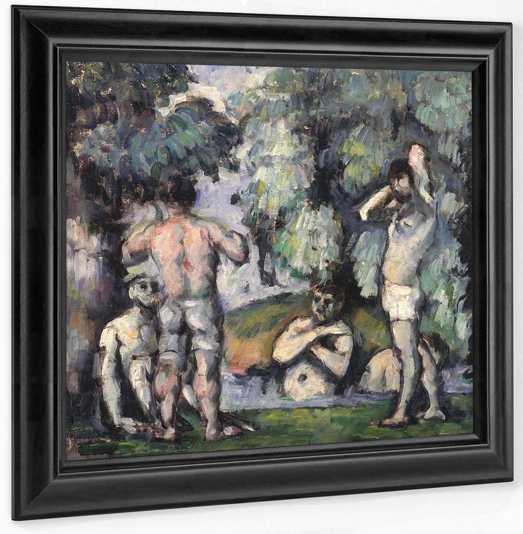 The Five Bathers By Paul Cezanne