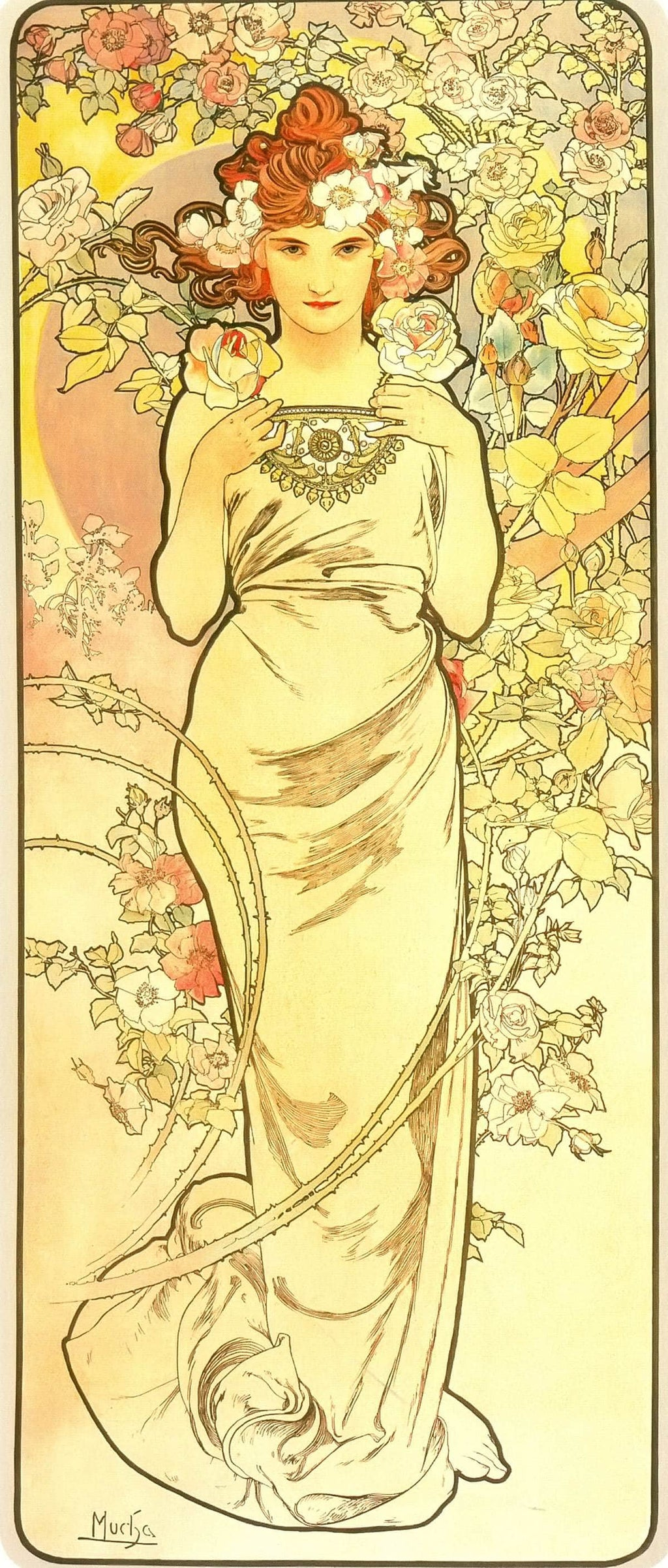 The Flowers Rose by Alphonse Mucha