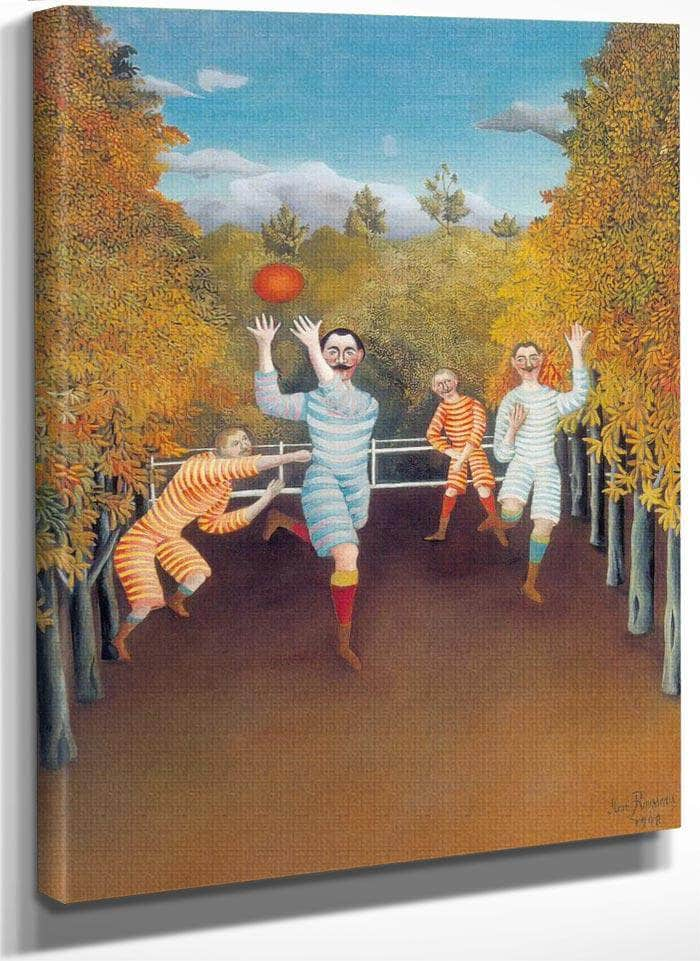 The Football Players 1908 By Henri Rousseau