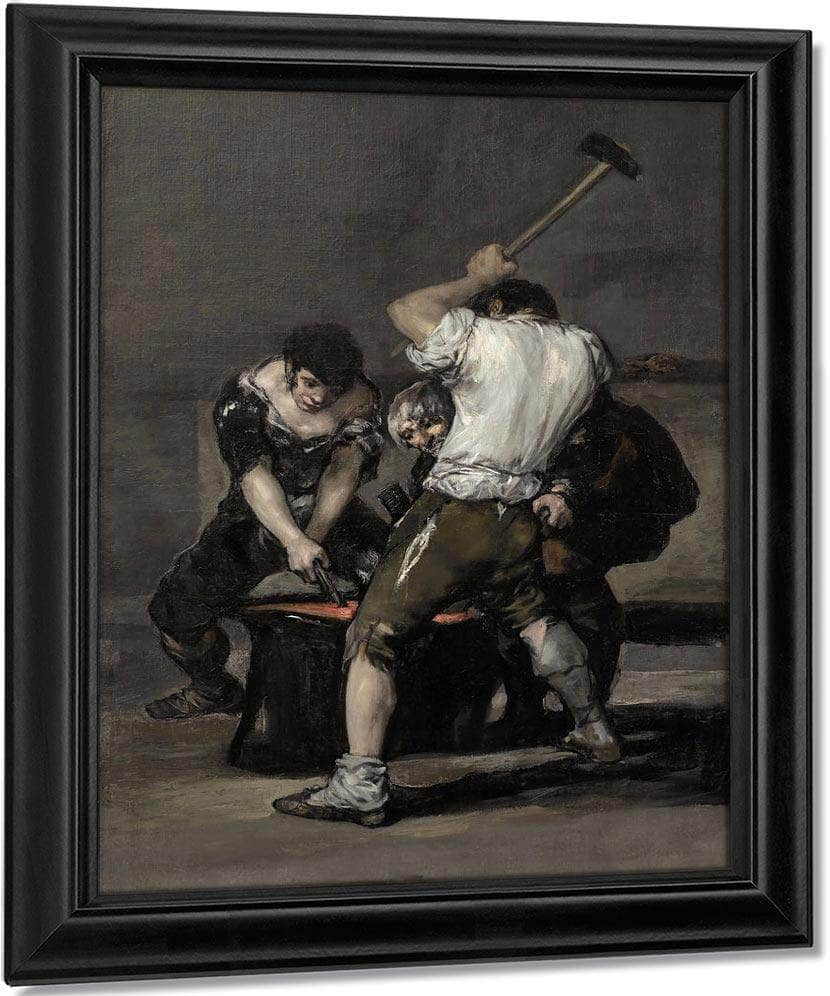The Forge By Francisco De Goya