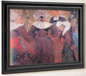 The Four Breton Girls By Paul Gauguin