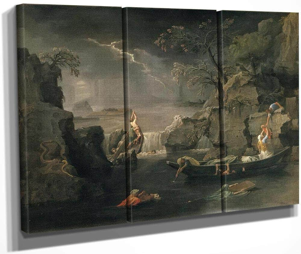The Four Seasons Winter (The Deluge) By Nicholas Poussin