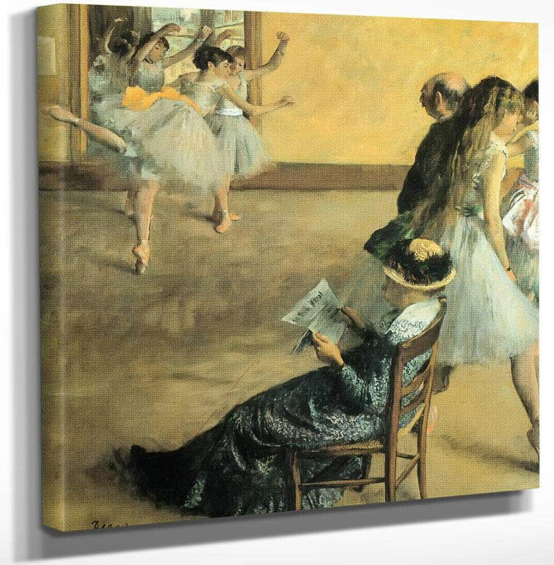 The Foyer By Of By The By Opera By House By Edgar Degas