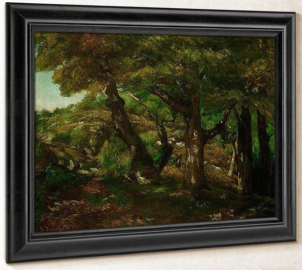The Fringe Of The Forest By Gusave Courbet