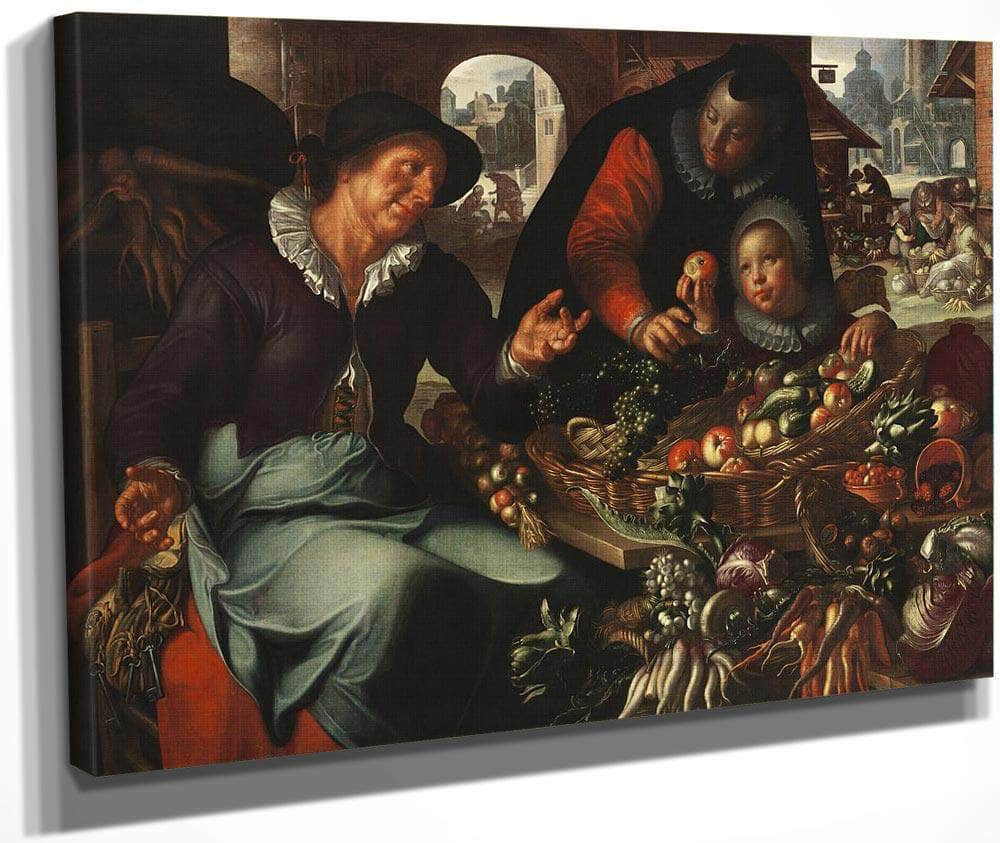 The Fruit And Vegetable Seller By Joachim Wtewael