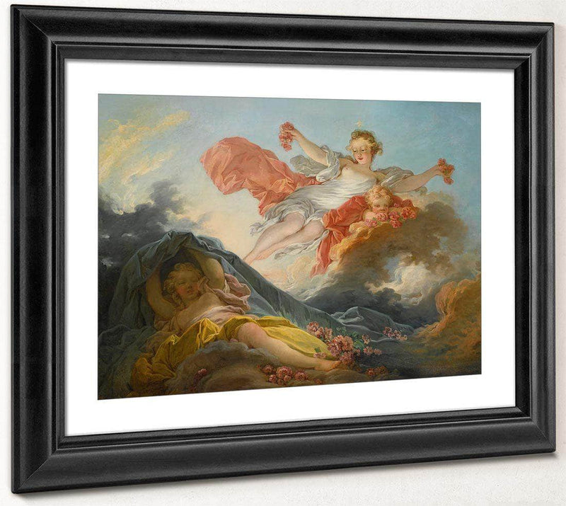 The Goddess Aurora Triumphing Over Night 1755 1756 Rococo 95 2X131 5Cm Pc By Jean Honore Fragonard