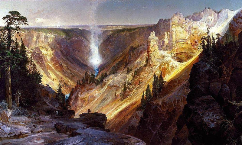 The Grand Canyon Of The Yellowstone 2 By Thomas Moran