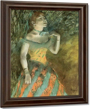 The Green By Singer By Edgar Degas