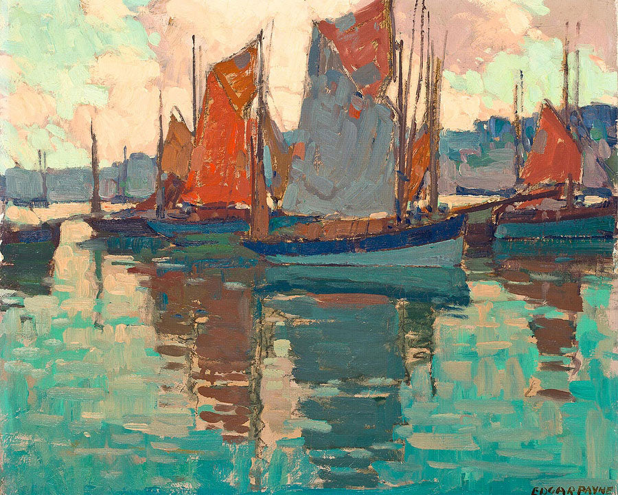 The Harbor, Douarnenez, France By Edgar Payne