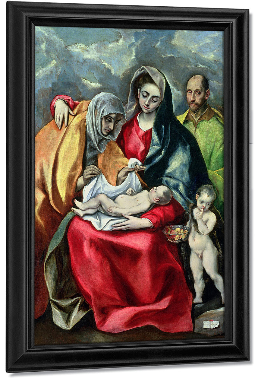The Holy Family With St.Elizabeth 1580 85 By El Greco