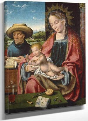 The Holy Family By Joos Van Cleve