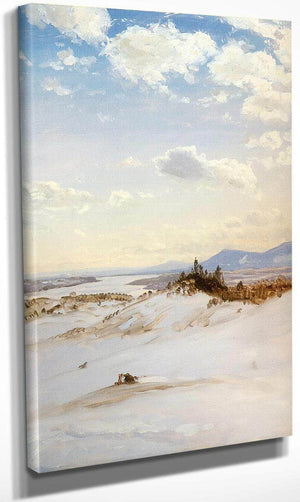 The Hudson Valley In Winter From Olana By Frederic Edwin Church