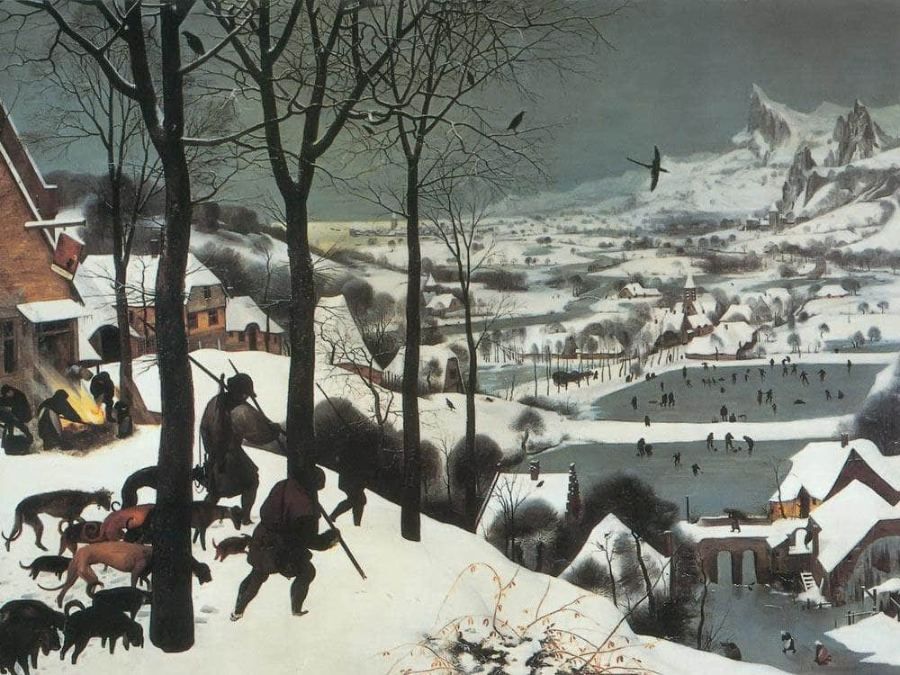 The Hunters In The Snow 1565 By Pieter Bruegel